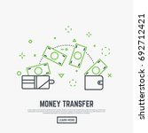 money transfer concept. two... | Shutterstock .eps vector #692712421