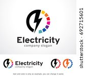 electricity logo template... | Shutterstock .eps vector #692715601