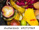 biodegradable waste from food... | Shutterstock . vector #692717869