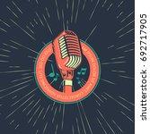 karaoke music club  bar  audio... | Shutterstock .eps vector #692717905