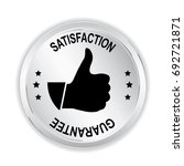 satisfaction silver sign with... | Shutterstock .eps vector #692721871