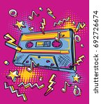 funky colorful drawn audio... | Shutterstock .eps vector #692726674