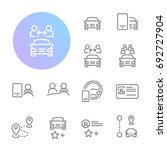 ridesharing icons | Shutterstock .eps vector #692727904