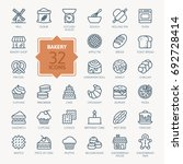 bakery icon set   outline web... | Shutterstock .eps vector #692728414