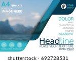 blue flyer cover business...   Shutterstock .eps vector #692728531