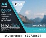 blue flyer cover business... | Shutterstock .eps vector #692728639