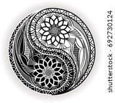 yin yang symbol. vector... | Shutterstock .eps vector #692730124