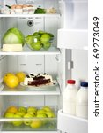 open refrigerator full with... | Shutterstock . vector #69273049