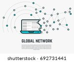 global web net concept. network ... | Shutterstock .eps vector #692731441