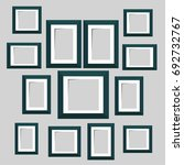 wall picture frame templates... | Shutterstock .eps vector #692732767