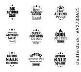 autumn sale logotypes set | Shutterstock . vector #692733625