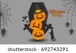 halloween vector illustration   Shutterstock .eps vector #692743291