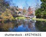 the beautiful karuizawa during... | Shutterstock . vector #692745631