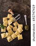 fresh ravioli | Shutterstock . vector #692747419