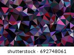 dark blue  red vector abstract... | Shutterstock .eps vector #692748061