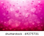 valentine's day background with ... | Shutterstock . vector #69275731