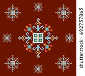 ethnic design with traditional... | Shutterstock .eps vector #692757865