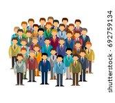 caucasian men community vector... | Shutterstock .eps vector #692759134