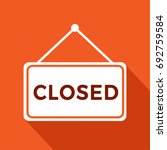 we are closed sign with... | Shutterstock .eps vector #692759584