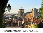 lantern and cathedral st. jean... | Shutterstock . vector #692765317