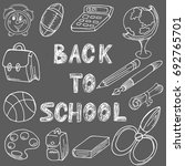 back to school. drawing with... | Shutterstock .eps vector #692765701