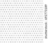 gray flower pattern. seamless... | Shutterstock .eps vector #692773189