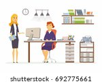 office discussion   vector...   Shutterstock .eps vector #692775661