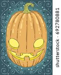 halloween holidays hand drawn... | Shutterstock .eps vector #692780881