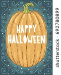 halloween holidays hand drawn... | Shutterstock .eps vector #692780899