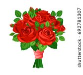 bouquet with red roses | Shutterstock .eps vector #692781307