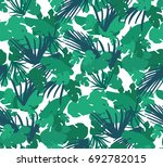 seamless pattern with tropical... | Shutterstock .eps vector #692782015
