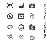 photo  video icons. camera ... | Shutterstock .eps vector #692782144