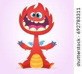 vector cartoon dragon monster... | Shutterstock .eps vector #692783311