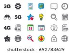 mobile telecommunications icons.... | Shutterstock .eps vector #692783629