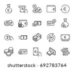 money line icons. set of credit ... | Shutterstock .eps vector #692783764