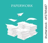 paperwork and routine. vector... | Shutterstock .eps vector #692785687