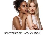 two beautiful models of african ... | Shutterstock . vector #692794561