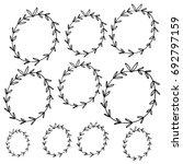 Vector Hand Drawn Of Circular...