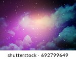 space of night sky with cloud... | Shutterstock . vector #692799649