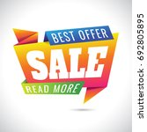 best offer read more sale... | Shutterstock .eps vector #692805895