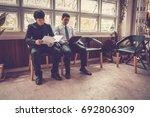 business situation job... | Shutterstock . vector #692806309