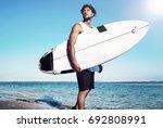 portrait of handsome hipster...   Shutterstock . vector #692808991