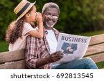 african american girl... | Shutterstock . vector #692813545