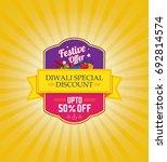 diwali festival offer template... | Shutterstock .eps vector #692814574