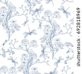 seamless pattern in the... | Shutterstock .eps vector #692818969