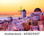 vector greece island summer...   Shutterstock .eps vector #692819347