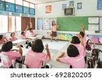 ban nong bua tai school  mae... | Shutterstock . vector #692820205