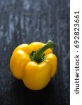 yellow sweet pepper on wooden...   Shutterstock . vector #692823661