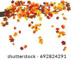 abstract autumnal background... | Shutterstock .eps vector #692824291