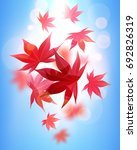 realistic autumn maple leaves... | Shutterstock .eps vector #692826319